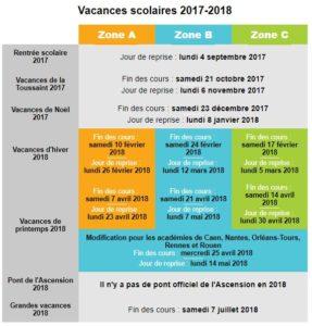Vacances scolaires 2017 2018 la reine de la bidouille - Vacances scolaires 2017 rennes ...